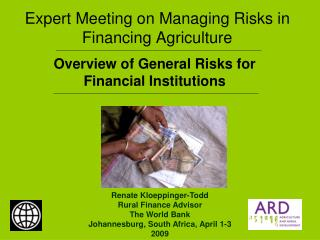 Expert Meeting on Managing Risks in Financing Agriculture