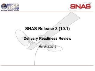 SNAS Release 3 DRR   March 2, 2010