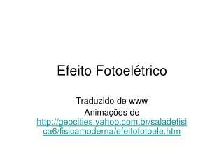 Efeito Fotoel trico