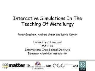Interactive Simulations In The Teaching Of Metallurgy