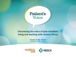 Uncovering the voice of plan members  living and working with chronic illness
