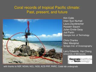 Coral records of tropical Pacific climate: Past, present, and future
