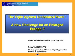 The Fight Against Undeclared Work :  A New Challenge for an Enlarged Europe