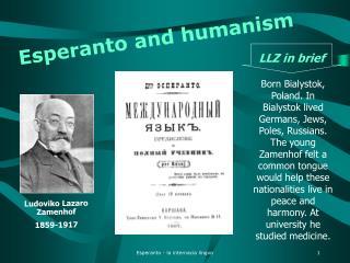 Esperanto and humanism