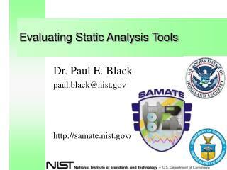 Evaluating Static Analysis Tools
