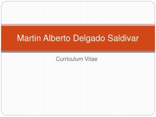 Martin Alberto Delgado Saldivar