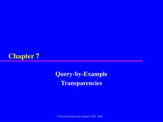 Query-by-Example Transparencies