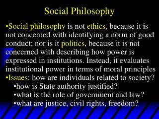 Social Philosophy