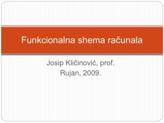 Funkcionalna shema racunala