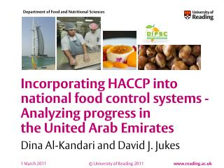 Incorporating HACCP into national food control systems - Analyzing progress in the United Arab Emirates