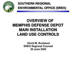 OVERVIEW OF  MEMPHIS DEFENSE DEPOT  MAIN INSTALLATION  LAND USE CONTROLS