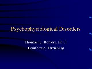 Psychophysiological Disorders
