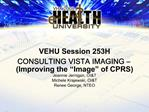 VEHU Session 253H CONSULTING VISTA IMAGING   Improving the  Image  of CPRS