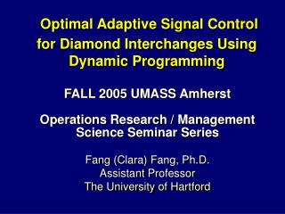 Optimal Adaptive Signal Control  for Diamond Interchanges Using Dynamic Programming