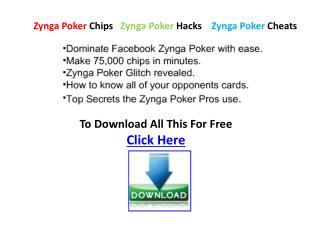 Facebook Zynga Poker Chips Free