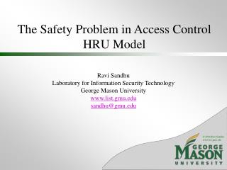 The Safety Problem in Access Control HRU Model