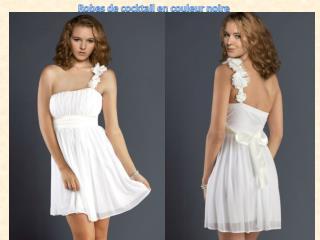 Robes de cocktail en couleur blanche