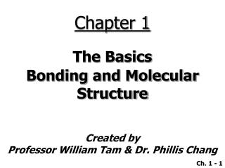 The Basics Bonding and Molecular Structure