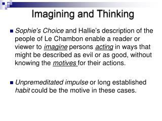 Imagining and Thinking