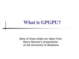 What is GPGPU