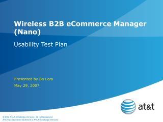 Wireless B2B eCommerce Manager Nano