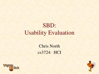 SBD: Usability Evaluation
