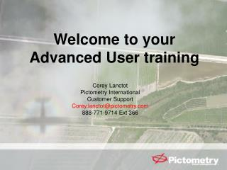 Welcome to your Advanced User training