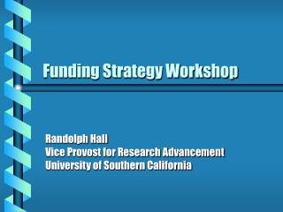 Funding Strategy Workshop