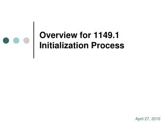 Overview for 1149.1 Initialization Process