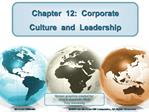 Chapter  12:  Corporate  Culture  and  Leadership