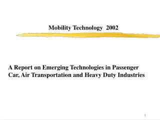 Mobility Technology  2002