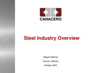 Steel Industry Overview