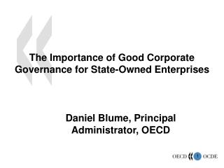 The Importance of Good Corporate Governance for State-Owned Enterprises