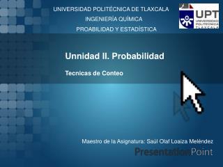 Unnidad II. Probabilidad