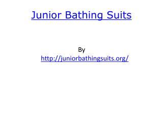Junior Bathing Suits
