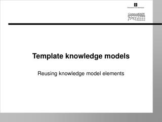 Template knowledge models