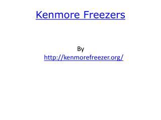 Kenmore Freezers
