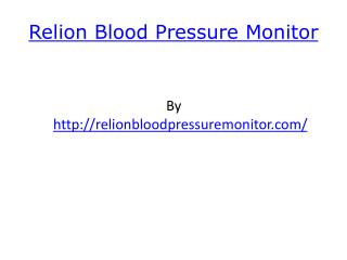 Relion Blood Pressure Monitor