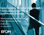 Spostrzezenia na temat  doskonalosci i konkurencyjnosci firm w  poszerzonej Europie