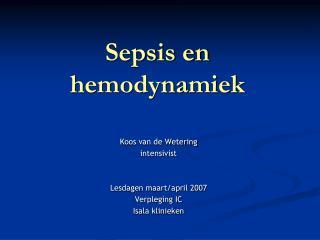 Sepsis en hemodynamiek