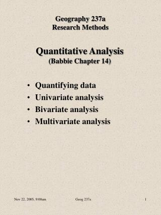Quantitative Analysis Babbie Chapter 14