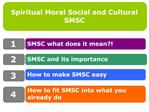 Spiritual Moral Social and Cultural SMSC