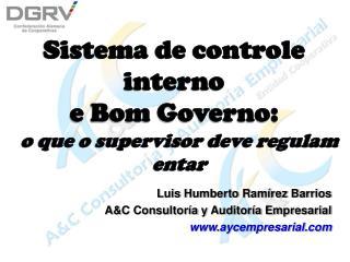 Sistema de controle interno e Bom Governo: