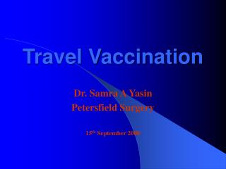 Travel Vaccination
