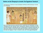 Sterben und der  bergang ins Jenseits: Das  gyptische Totenbuch