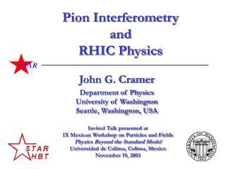 Pion Interferometry and RHIC Physics