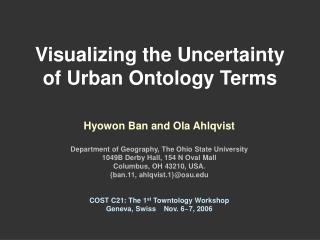 Visualizing the Uncertainty of Urban Ontology Terms