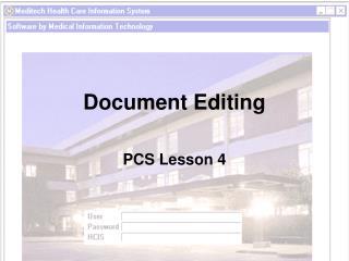 Document Editing