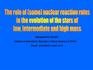 The role of some nuclear reaction rates in the evolution of the stars of low, intermediate and high mass