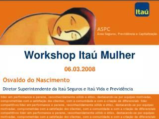 Workshop Ita  Mulher